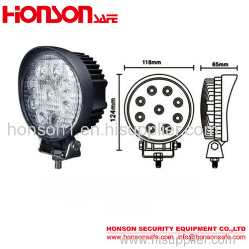 Wholesales waterproof 27w off road light tractor led work light for truck