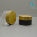 30\50G cosmetic cream screw cap jar with black wood cap black printing