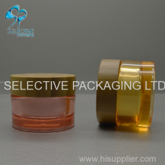 30G 50G ACRYLIC CREAM JAR WITH BAMBOO CAP