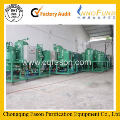 Used engine oil recycling machine change black to yellow