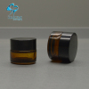 3g mini small size amber glass cosmetic packaging eye cream empty jar