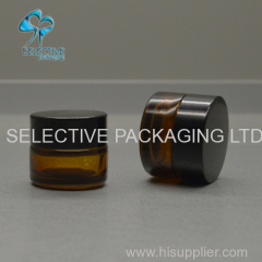 empty 3g mini small size amber glass cosmetic packaging eye cream empty jar