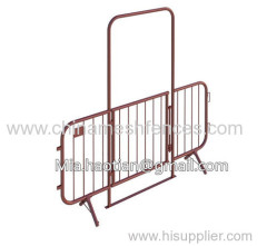 Crowd control barricade gate design 2.2m tall event entrance with lockable swing door crowd control