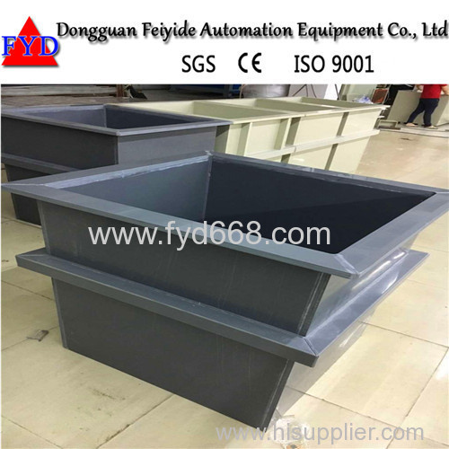 Feiyide Electroplating Machine PVC Tank for Chrome Plating