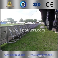 aluminum alloy streight barrier.Safety barrier.control crowd barrier