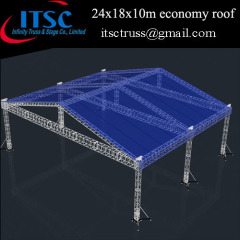 Roofing Truss System with 6 Towers and Blue Cover