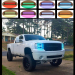 72w 12 InchStraight Led Bar with RGB halo LED Lights and Wiring Harness