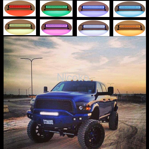 240w 42 Inch Straight Led Bar Off Road Lights Fog Lights Boat Lighting Headlight with RGB Halo ring wiring harness
