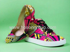 New Design Wax Printed Fabric Shoes