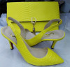 Bright Color Sling Back Sandals with Matching Handbags