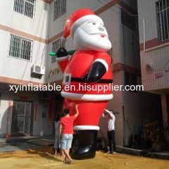 PVC 25ft Christmas Inflatable Santa In Hot Sale
