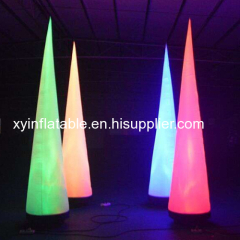 Factory Outlet Lighting Inflatable Cone For Party Decoration