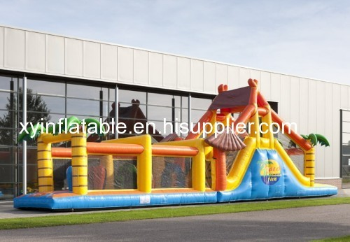 Hot Selling Jungle Inflatable Obstacle Course