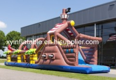 Pirate Ship Inflatable Obstacle Course For Sale