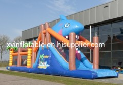 Shark Cheap Inflatable Obstacle Course For Sale