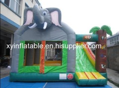 Elephant Inflatable Bouncer With Slide