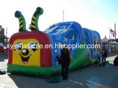 Cute Caterpillar Inflatable Combo Bouncer