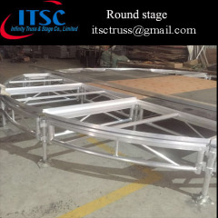 Plywood aluminum round stage