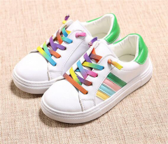 Children rainbow lace casual shoes