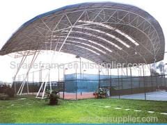 di alta qualità struttura del telaio in acciaio spazio griglia tettoia tettoia