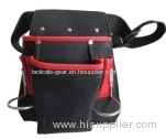 waist bag with pockets and a metal bracket