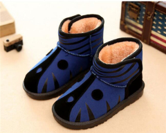 Children comfortable velcro ankle boots