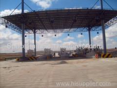 stazione di servizio in acciaio cornice spaziale griglia sparso struttura a baldacchino