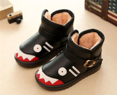 Children cute monster print buckle boots