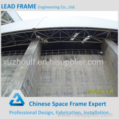 Prefabricated Steel Space Frame Coal Sheds With Dome Roof Shape