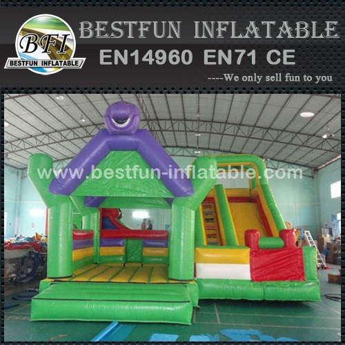 Rainbow commercial grade inflatable combo