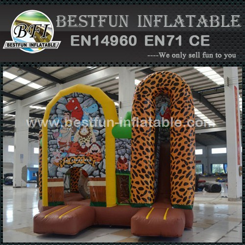 Inflatable stone age cabin combo