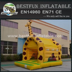 Giraffe Moonwalk Inflatables Theme Park Bounce Castle