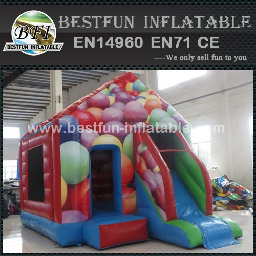 Crazy Colors Inflatable Bounce House Castle