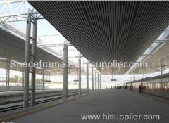 Long Span Truss Structure Train Station Roof
