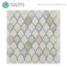 Backsplash Tiles Design Fan Shaped Ceramic Black Stone Mosaic Tiles