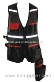 tool vest with 1 phone pocket and 1 loop with snap hok