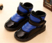 Kids velcro clip on winter boots