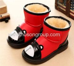 Winter bear printed clip on children boots