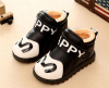 Winter PU leather velcro children shoes