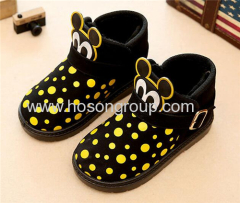 Mickey Mouse children polka dot winter boots
