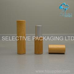 lip-stick bamboe container zwart aluminium