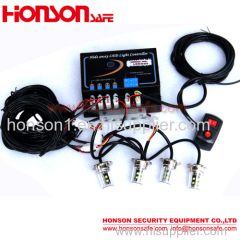High Power LED Strobe Emergency Visor Hideaway Lights