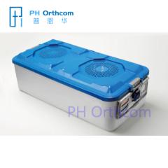 Zug-Sterilisationsbehälter blaue orthopädische Instrumentenbehälter