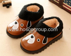 Children dog printed clip on boots