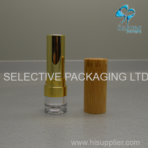 bamboo packaging lipstick container empty lipstick tube