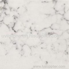 Calacatta white sand quartz stone countertops