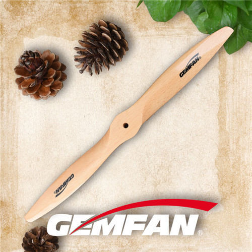 17x7 inch Gas Wooden spinning plane Propellers
