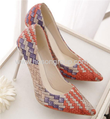 Women pointy toe high heel dress shoes
