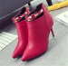 Women pointy toe ankle dress high heel boots