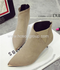 Ladies elastic band ankle boots